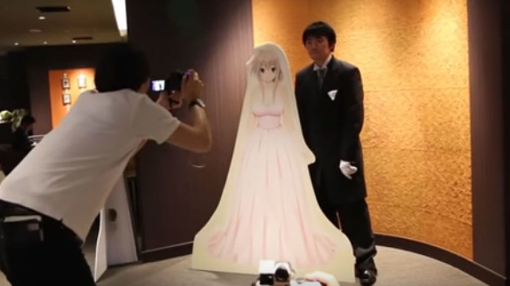 Los japoneses ya se casan con novias virtuales