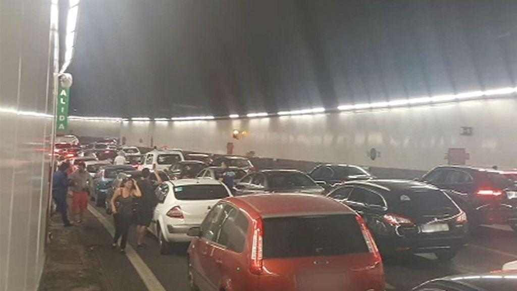 Susto en los túneles de la M-30 de Madrid tras la avería