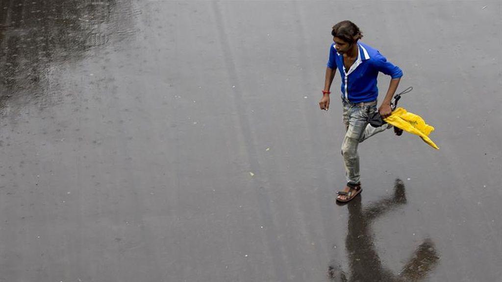 Lluvia monzónica en Calcuta