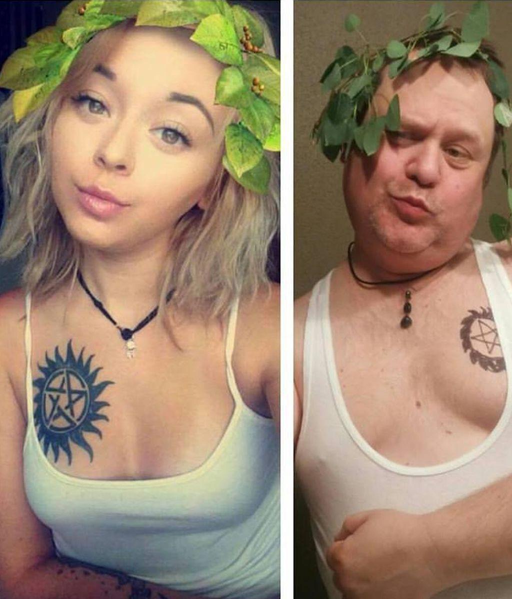 Un padre recrea las fotos de su hija en las redes sociales y se hace viral en la Red