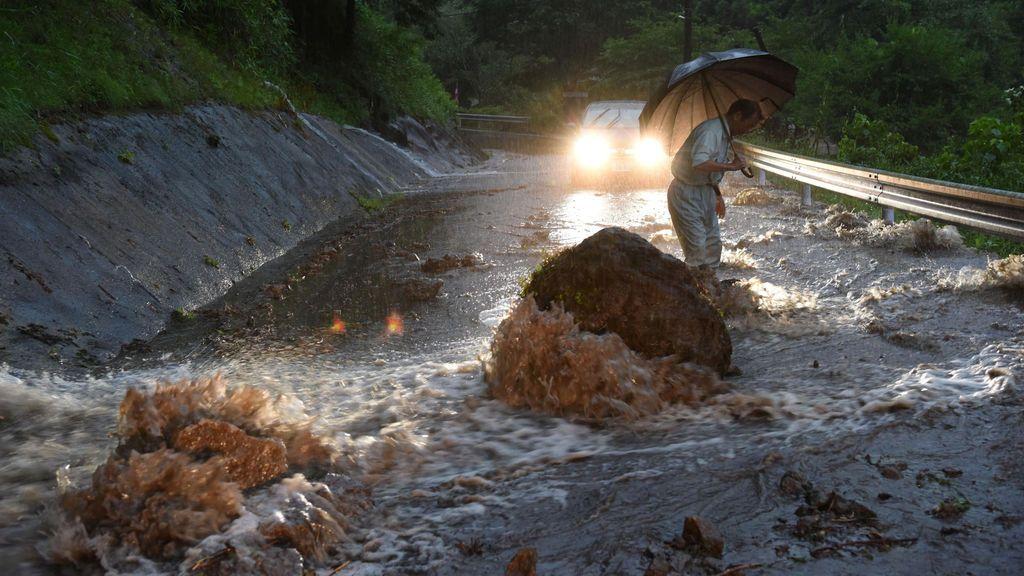 Lluvias torrenciales en Japón