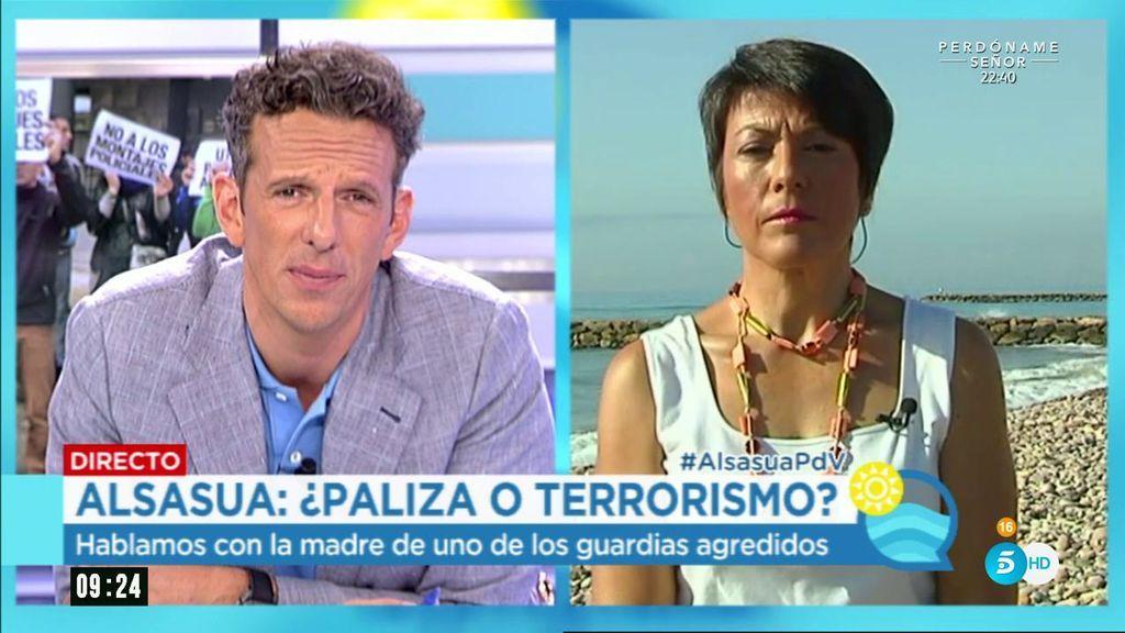 """Madre de uno de los guardias de Alsasua: """"No es una paliza en un bar, es terrorismo"""""""