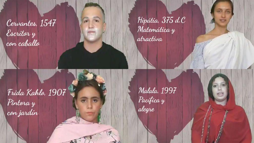 Cuando 'First dates' se estudia en el instituto y... ¡Frida Kahlo tiene una cita con Cervantes!