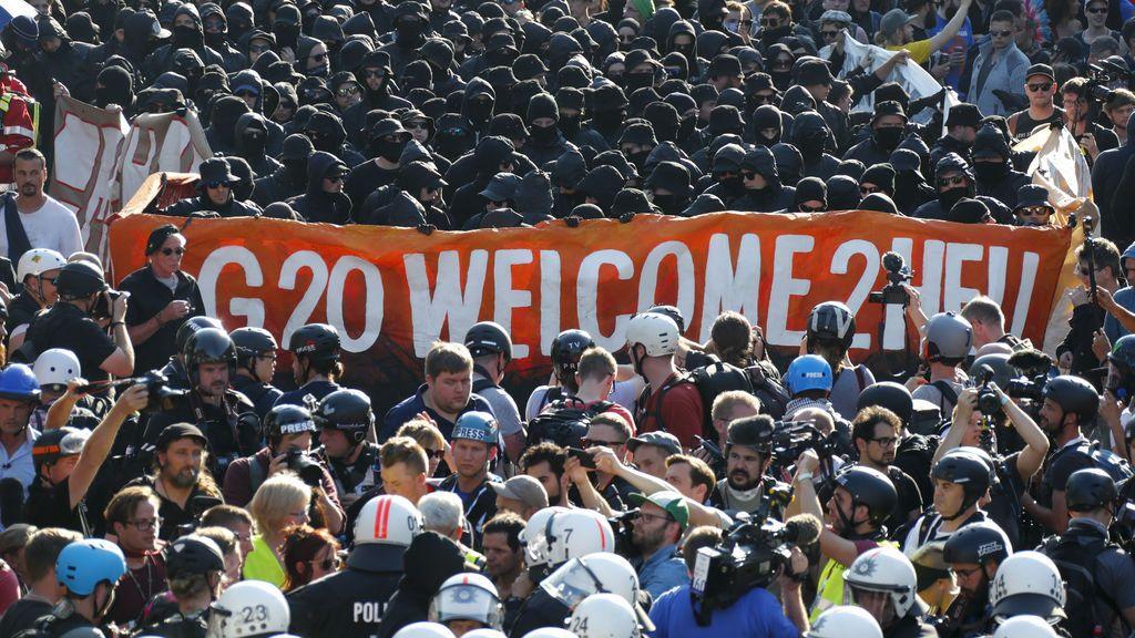 Manifestaciones durante la cumbre del G20 en Hamburgo