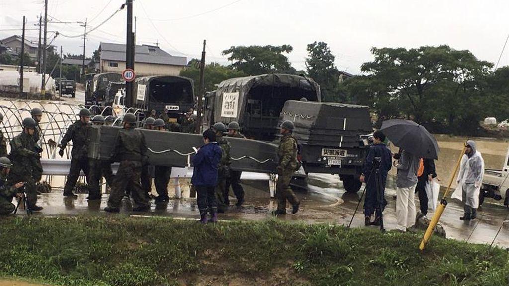 Al menos dos muertos y medio millón de evacuados por las lluvias torrenciales en Japón