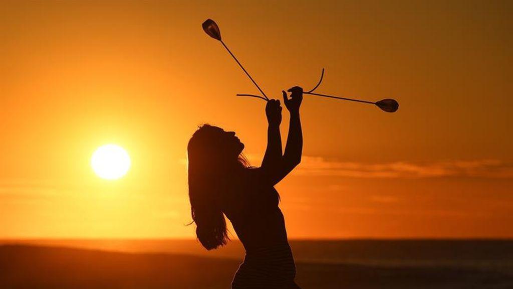 Puesta de sol en Nueva Zalanda