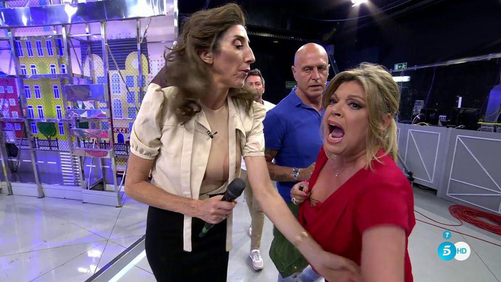 Terelu abandona el plató llorando tras su gran bronca con Mila Ximénez