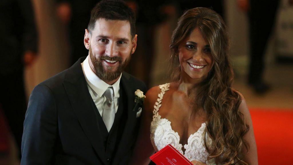 Messi dona las bebidas y aperitivos que sobraron en su boda al Banco de Alimentos