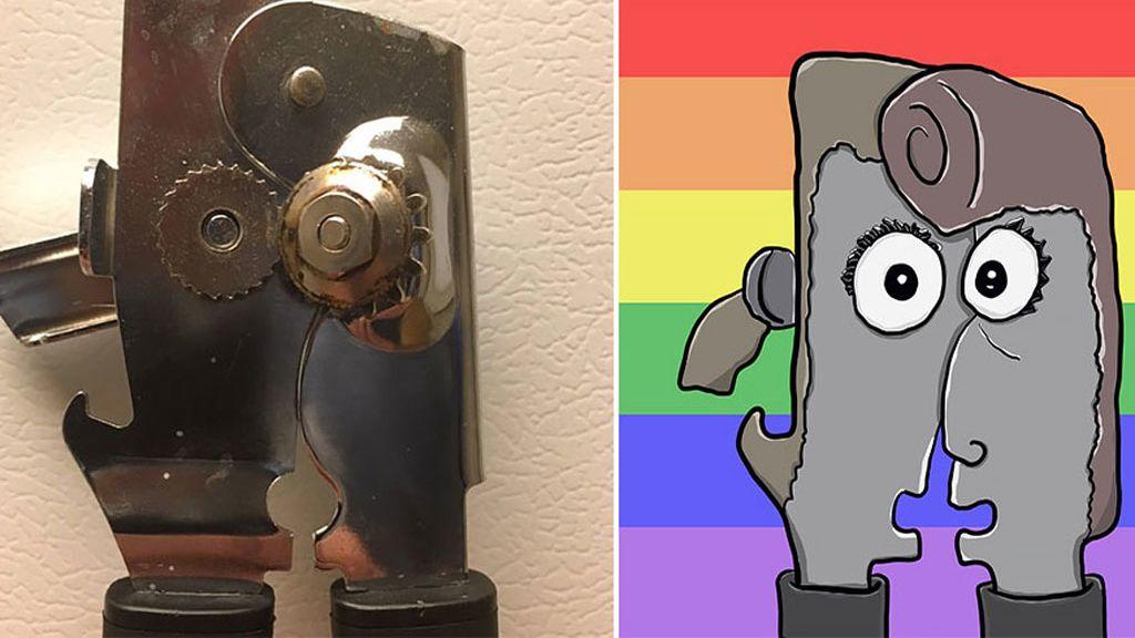 Descubre caras y personajes animados en los objetos más cotidianos