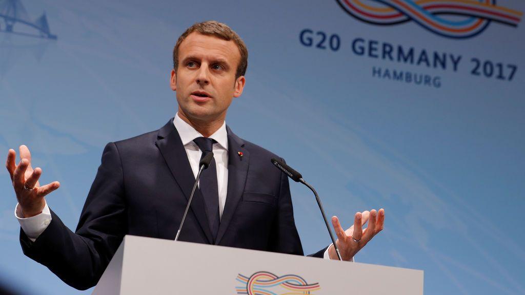 Macron en el G20 en Hamburgo