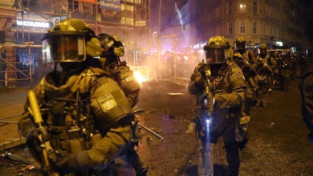 Policía en Hamburgo en la cumbre del G20