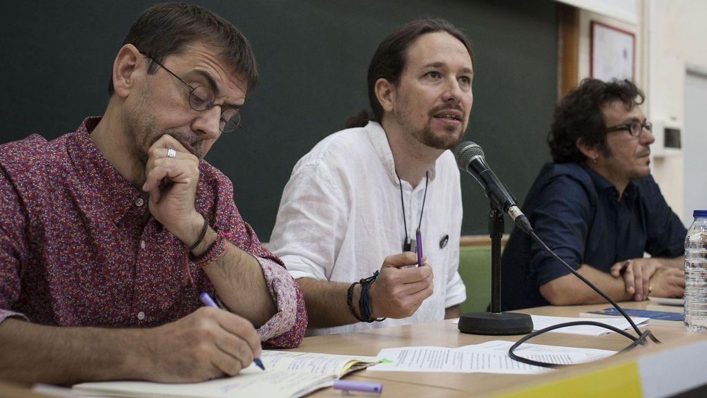 Monedero, Iglesias y 'Kichi' en la Universidad de Verano de Podemos en Cádiz