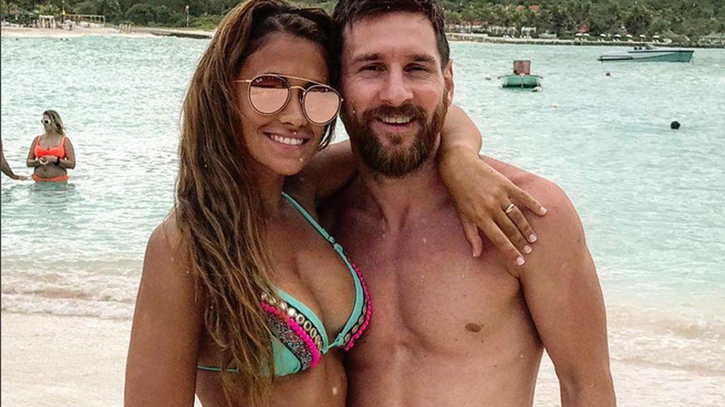 Messi y Antonella se relajan en su lujosa y tranquila luna de miel en familia