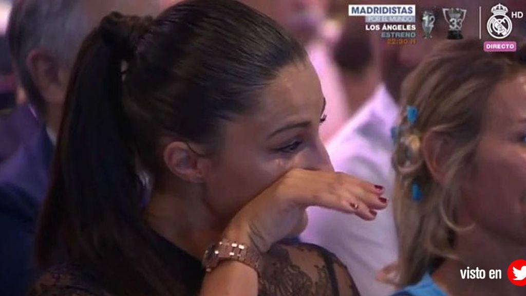 La novia de Theo se emocionó con sus primeras palabras como nuevo jugador madridista
