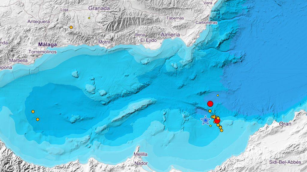Sentido en varios municipios de Almería un terremoto de magnitud 4,8 con epicentro en aguas de Argelia