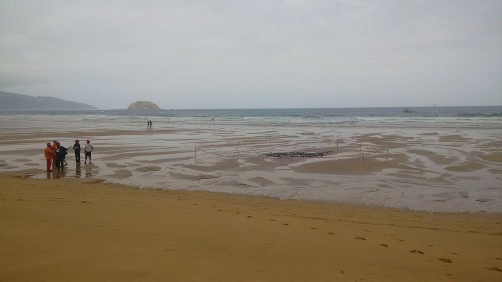 Fallece un turista francés de 44 años mientras nadaba en la playa de Laga, en Vizcaya