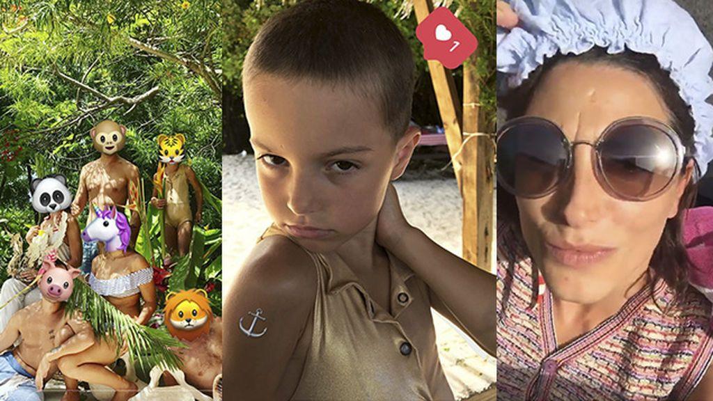 Así son las vacaciones tropicales de las hijas de Bimba Bosé, Diego Postigo y Bárbara Lennie 🌴☀️💦
