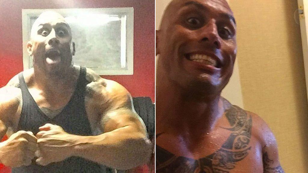 ¡Mismo cuerpo escultural, tatuajes, rostro...! 'The Rock' ha encontrado a su doble idéntico