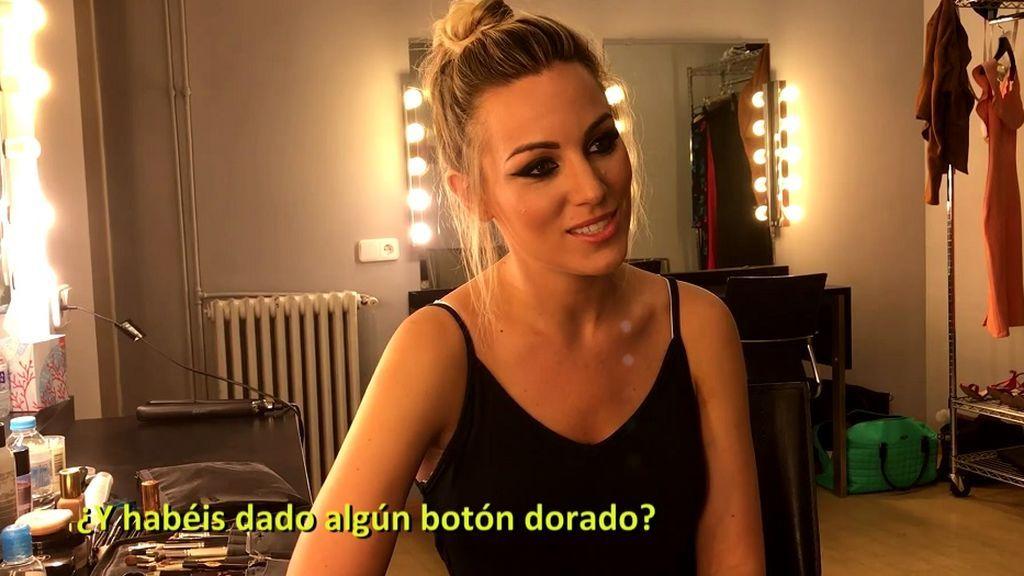 """El camerino de Edurne en ¡Got Talent 3': """"Vengo más guerrera, he subido el listón"""""""