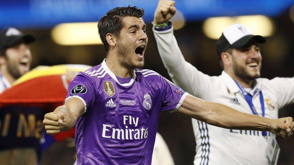 Morata sorprende con su cambio de look más extremo: rapado y teñido de rojo