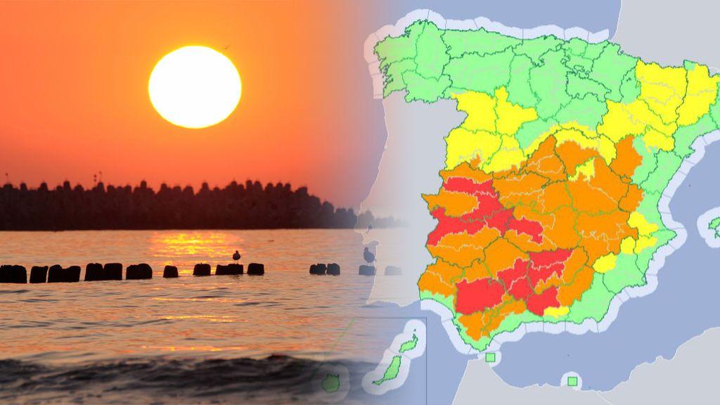 Avisos rojos y riesgo extremo en centro y sur: alcanzaremos los 46 grados