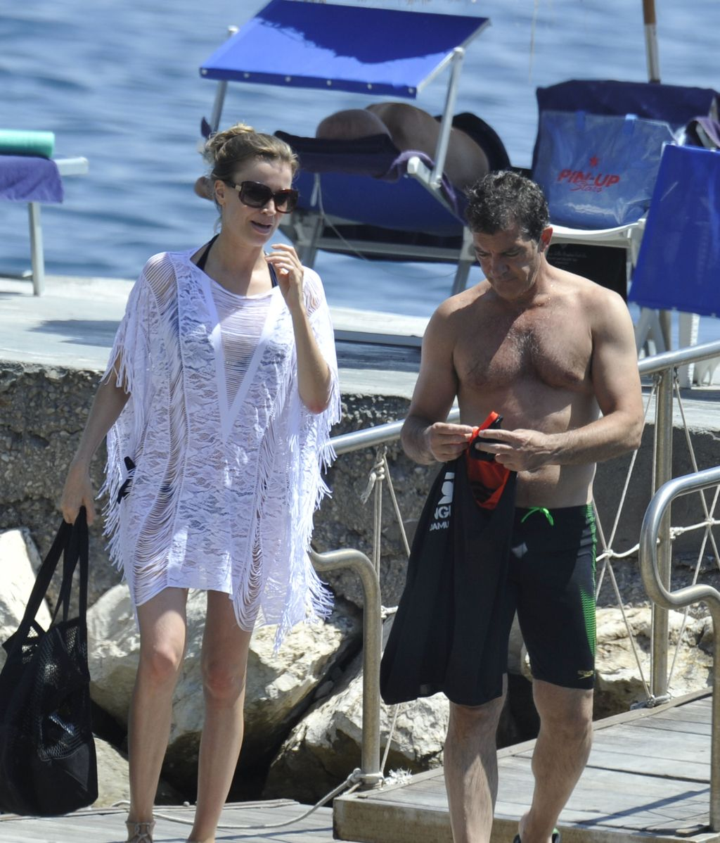 Antonio Banderas y Nicole Kimpel disfrutan de sus mejores vacaciones