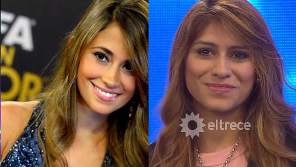 El parecido entre Antonella Rocuzzo y su doble