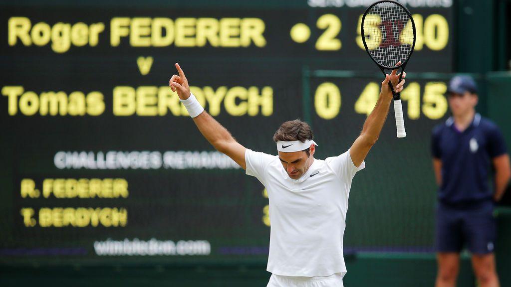 Roger Federer logra su victoria 90 en Wimbledon y se clasifica para la gran final