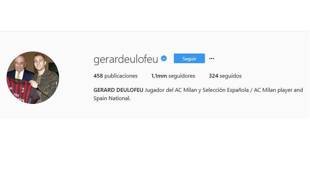 Instagram de Deulofeu