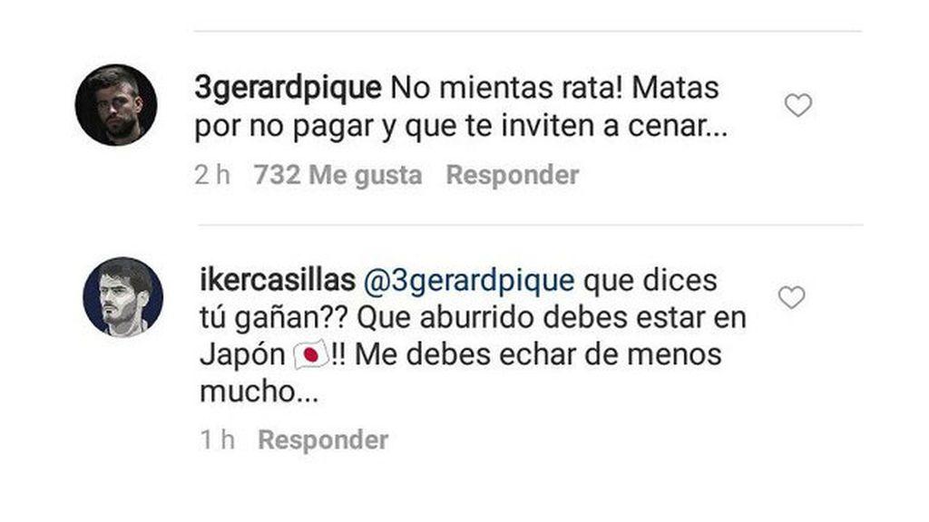 Intercambio de 'zascas' entre Casillas y Piqué