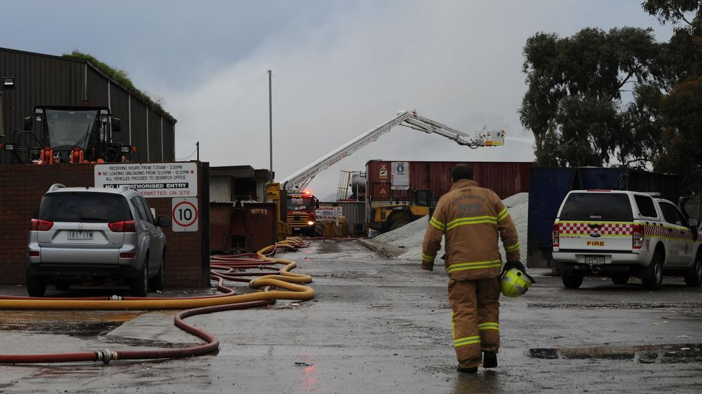 Incendio en una planta de reciclaje de Melburne