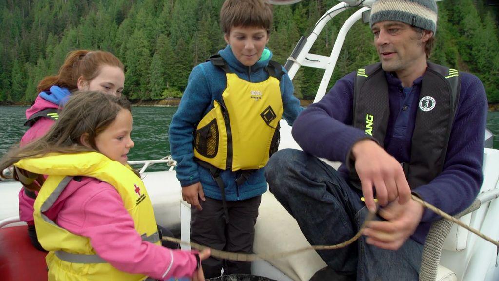 ¡Un bonito día de pesca!: Una estrella de mar y gambas para todos