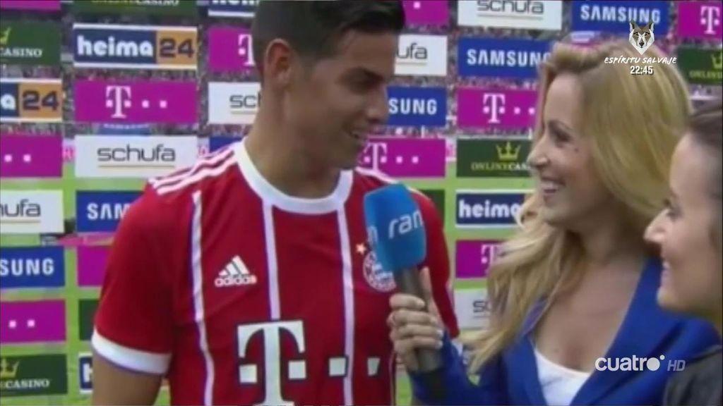 James Rodríguez vuelve a sonreír en el Bayern: ya dijo sus primeras palabras en alemán