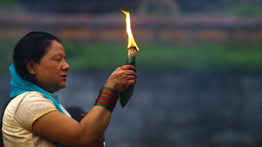 Sarwan Brata festival en Kathmandu