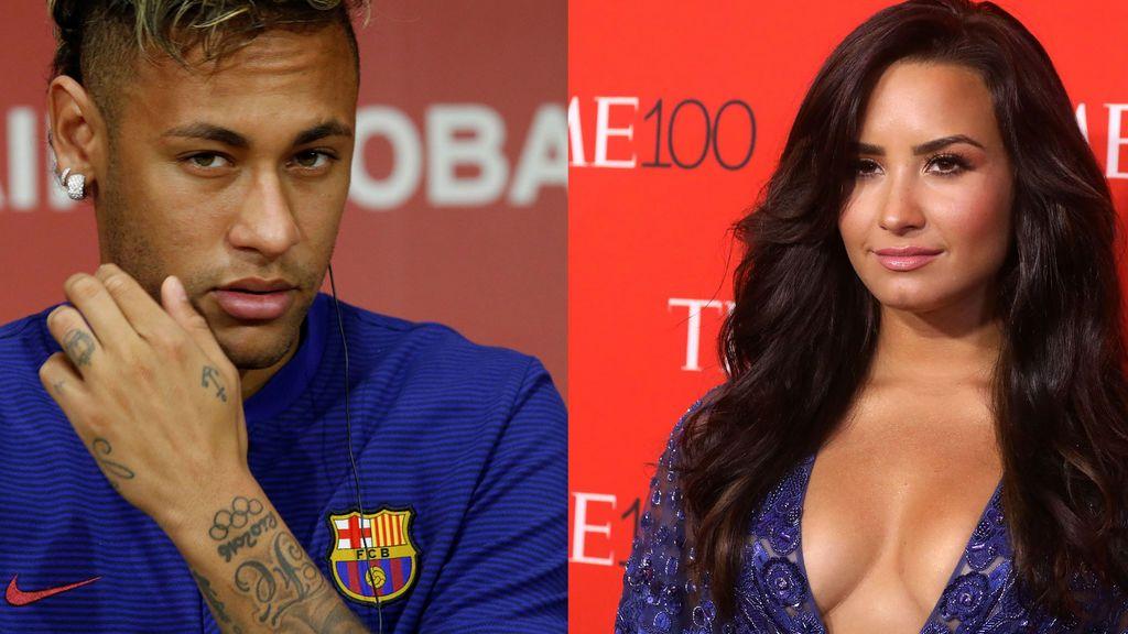 ¿Ligoteos en la red? Mensaje (con beso incluido) de Neymar a Demi Lovato