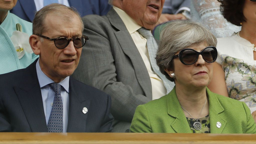 Theresa May y su marido Philip