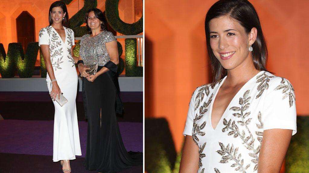 Vestido 'last minute': el improvisado look de gala de Garbiñe Muguruza para la cena de campeones de Wimbledon