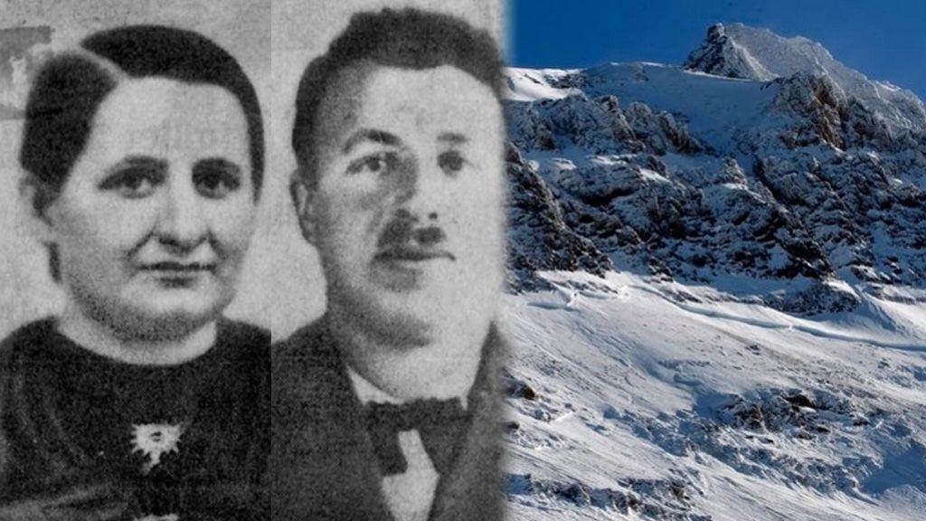 Un glaciar conserva los restos de un matrimonio en los Alpes tras 75 años