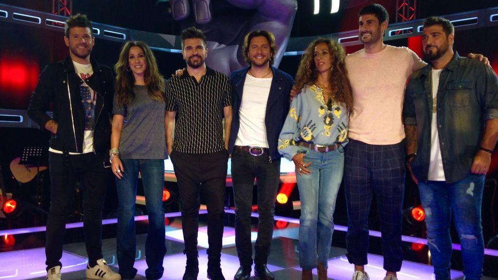 La presentación de 'La Voz' y 'La Voz Kids' con todos los coaches