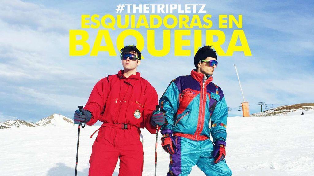 Esquiadoras en Baqueira