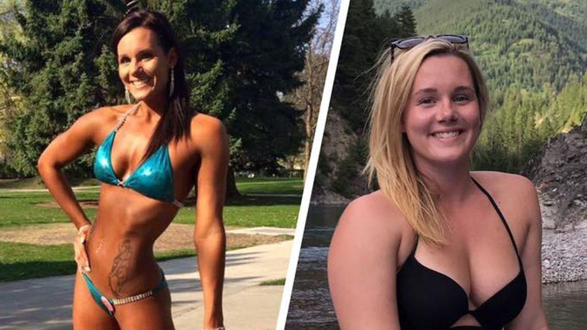 """La increíble transformación de una joven culturista a """"amante del cuerpo"""""""
