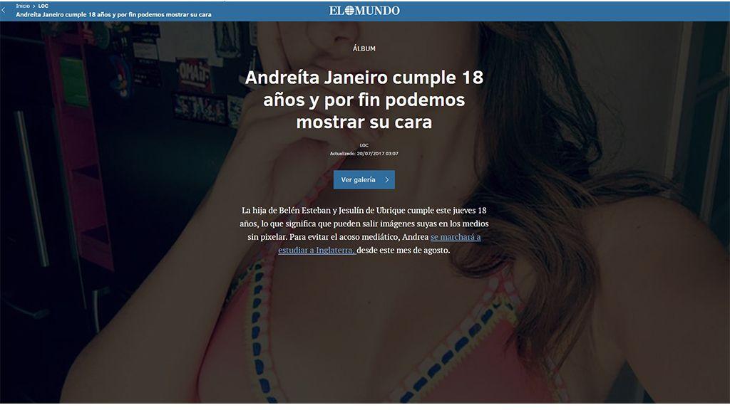 Andrea Janeiro, protagonista en todos los medios españoles