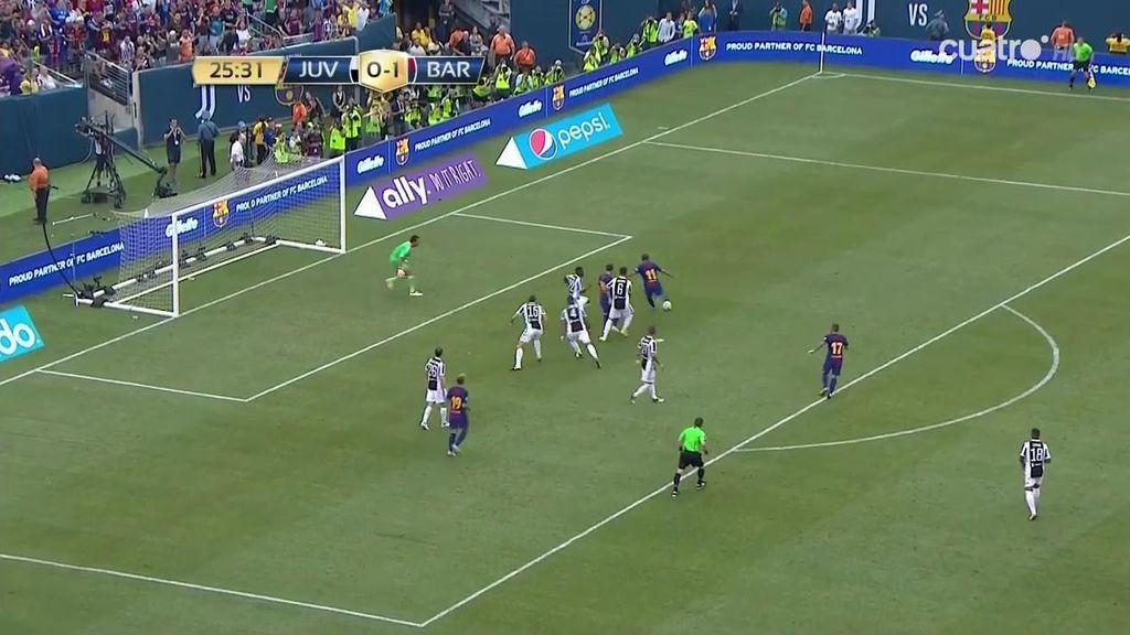¡El gol del verano! Neymar se va de cinco dentro del área y 'fusila' a Buffon