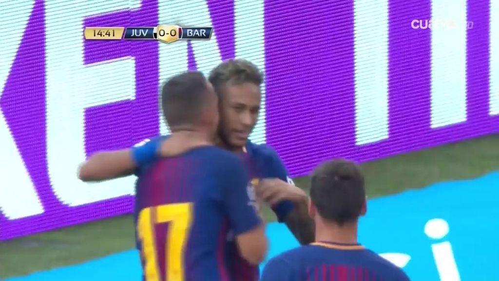 ¡Gol de Neymar! El brasileño habla en el campo y adelanta al Barça en el marcador