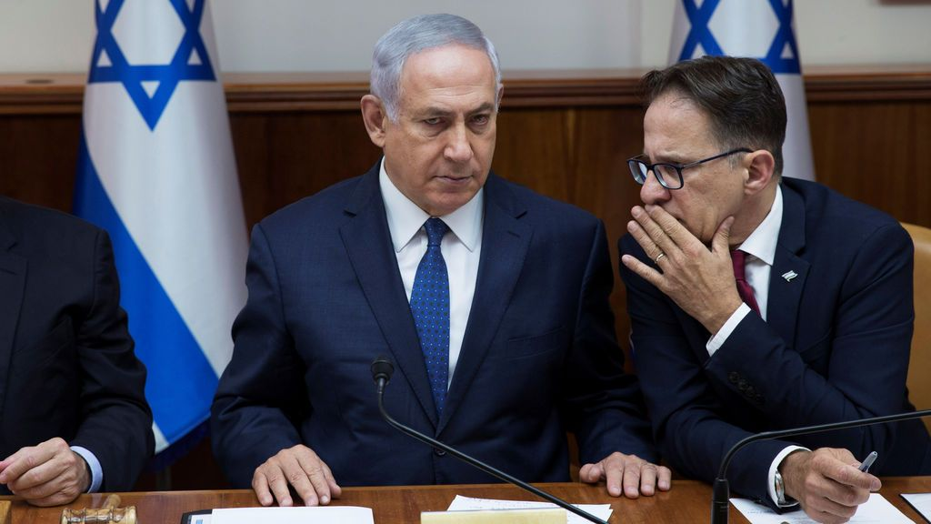 Primer ministro Israelí y el secretario del gabinete
