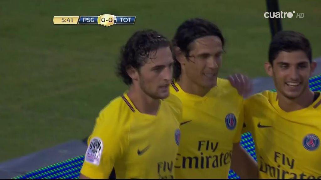 Cavani fusila al portero del Tottenham y hace el primero para el PSG (1-0)
