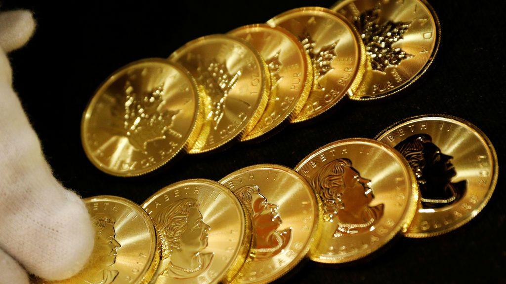 Monedas de oro entregadas a la oficina central GoldSilver en Singapur