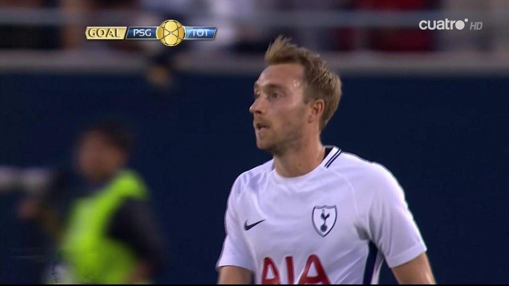 ¡Golazo del Tottenham! Tremendo disparo desde fuera del área de Eriksen
