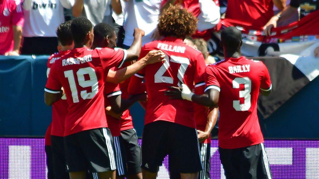 Martial le hace un 'roto' a la defensa del Madrid, se va de cuatro y regala a Lingard el 0-1