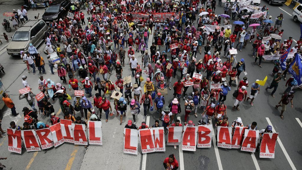 Manifestación contra el presidente Rodrigo Duterte